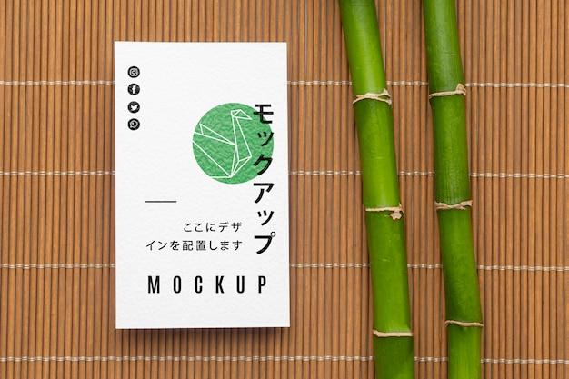Расположение макета визитки