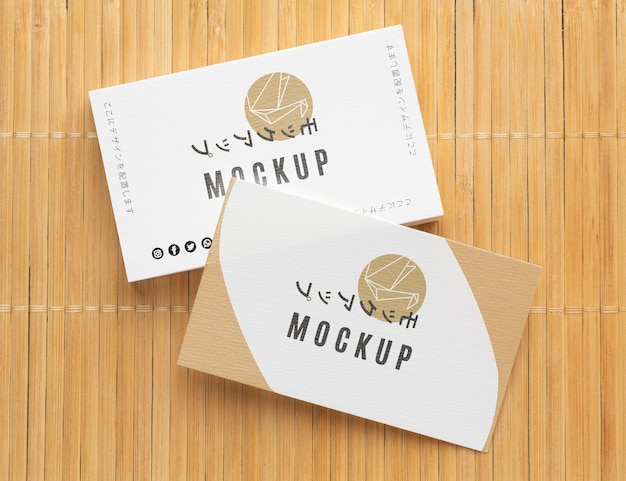 Business card mock-up assortment