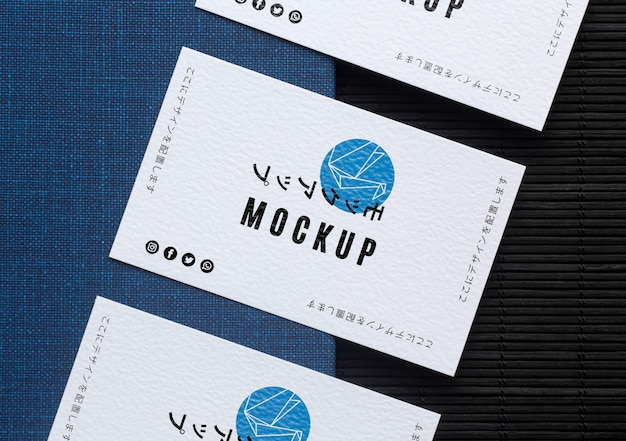 Business card mock-up composition