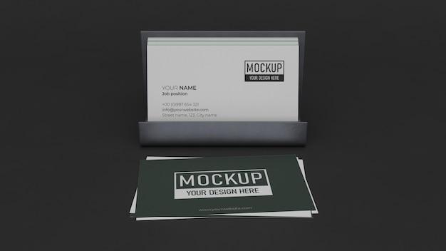 Business card mock-up composition