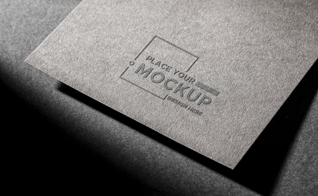 Business card mock-up on dark background