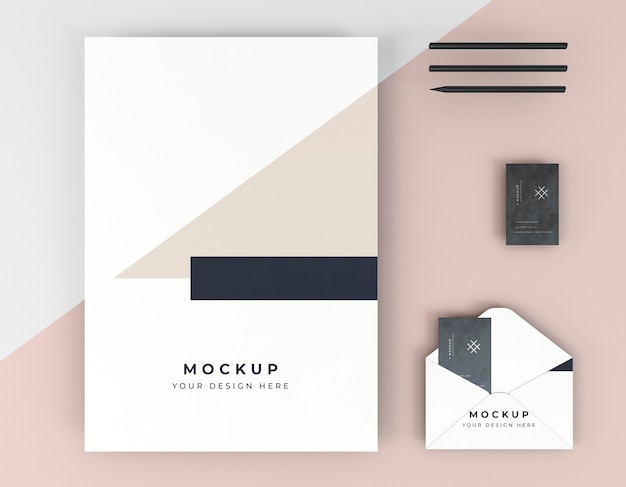 Business card mock-up and envelope