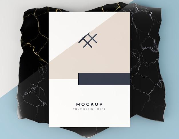 Biglietto da visita mock-up piatto lay