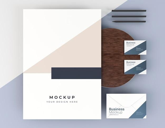 Business card mock-up and poster