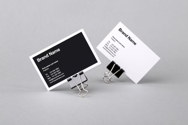 Business card mock up set