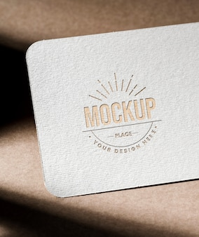 Business card mock-up with texture