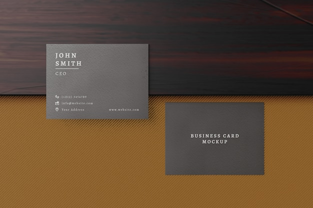 Business card mock ups to display minimal business card template