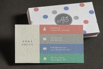 Business card mocku