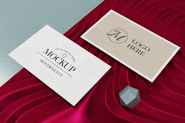 Business card mockup on 3d rendering