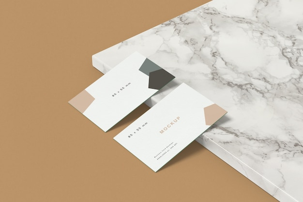 Business card mockup 85x55 mm size