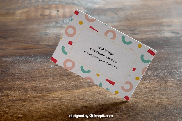 Business card mockup concept