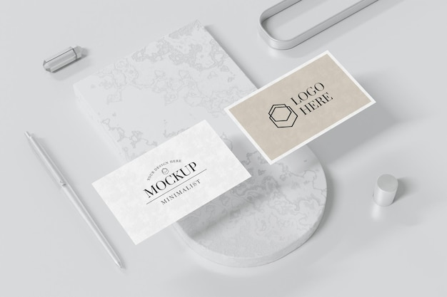 Business card mockup design in 3d rendering