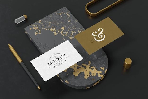 Дизайн макета визитки в 3d рендеринге дизайн в 3d рендеринге