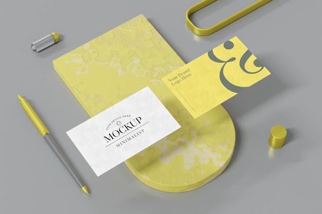 Дизайн макета визитки в 3d рендеринге