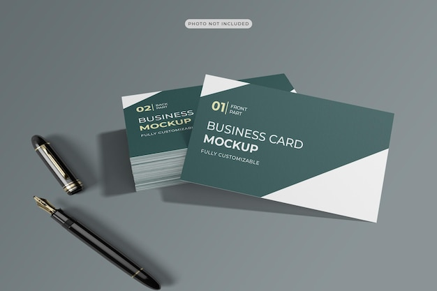 3d 렌더링의 명함 모형 디자인