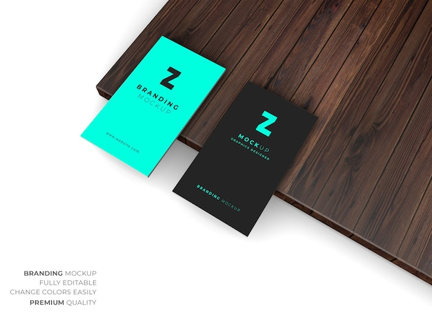 Business card mockup design isolated