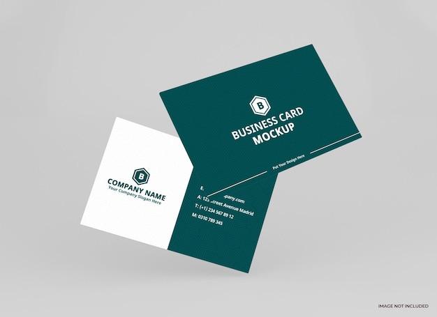 Визитная карточка макет дизайн рендеринга изолированные
