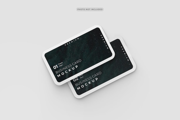 Business card mockup design rendering round corners