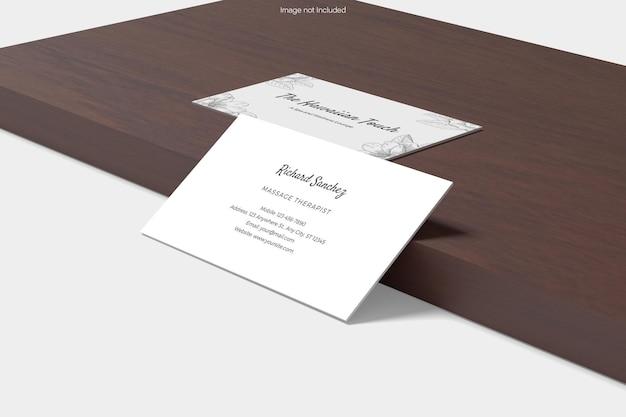 Business card mockup design rendering