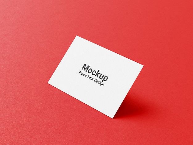 Business card mockup on green background