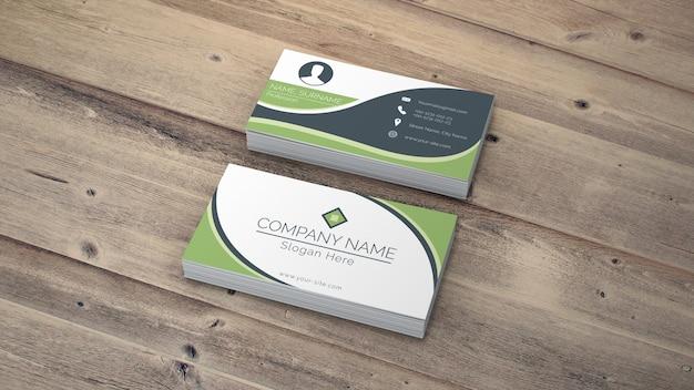 Макет визитной карточки в эко-стиле