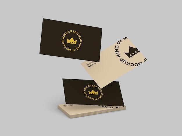 Макет визитной карточки изолированные