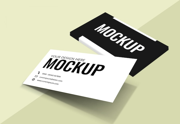 Business card mockup light background