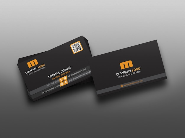 Business card mockup modern & realistic