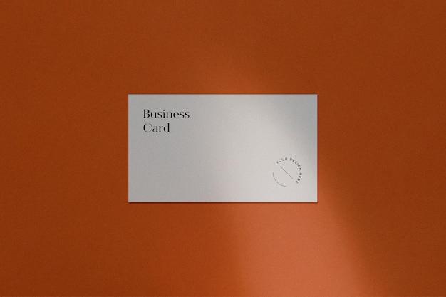 Business card mockup on orange