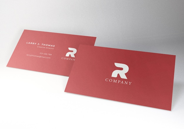 Business card mockup for presentation