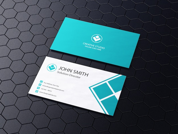 Business card mockup realistic