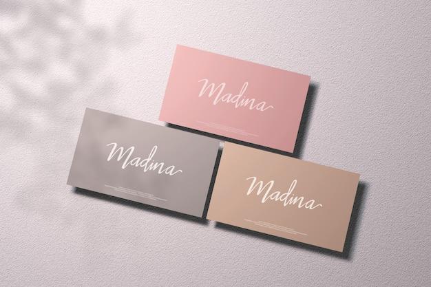 Business card mockup on soft color