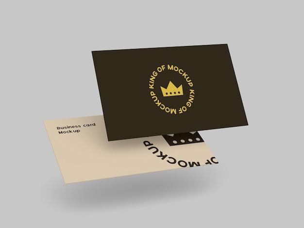 Визитная карточка макет канцелярские изолированные