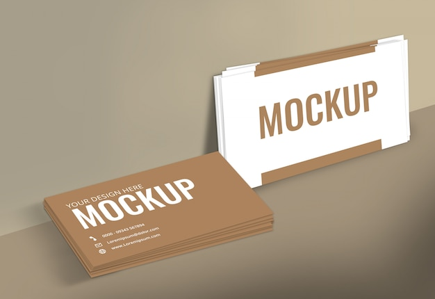 Business card mockup wall