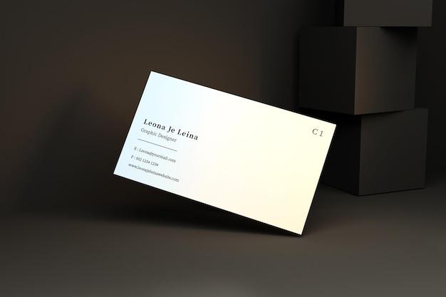 큐브가있는 명함 모형