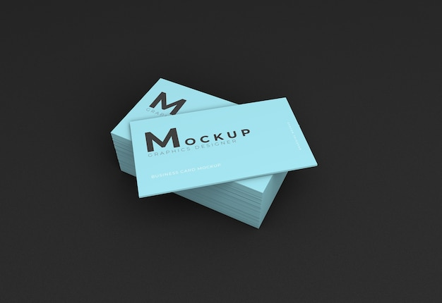 Business card mockup with dark texture