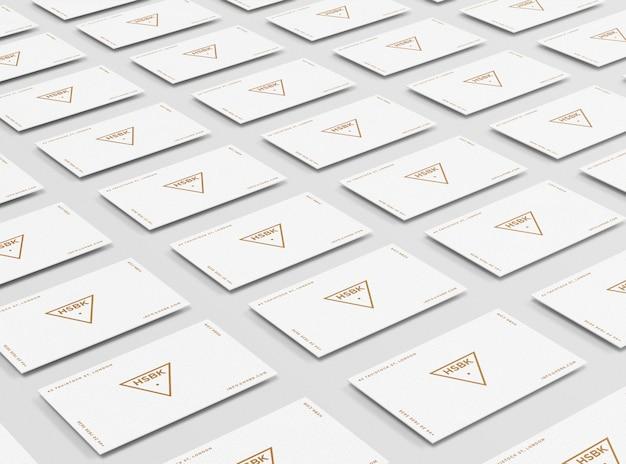 편집 가능한 가장자리 색상의 명함 모형