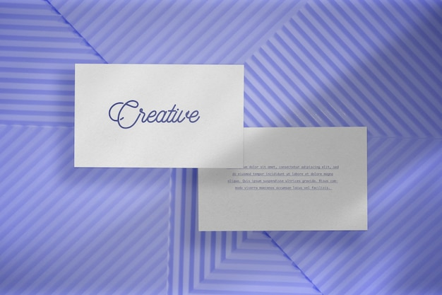 Business card mockup with nature concept