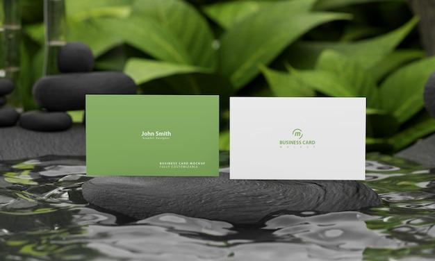 자연 컨셉 비즈니스 카드 모형