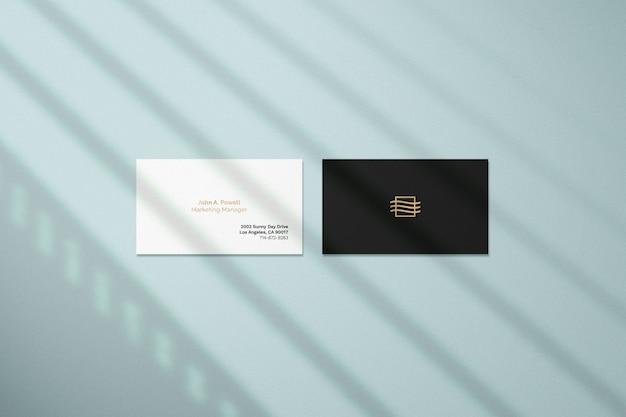 Макет визитки с теневым наложением