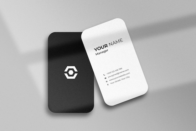 Business card mockup with shadow