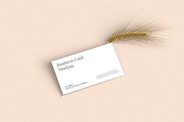 Макет визитной карточки с пшеницей