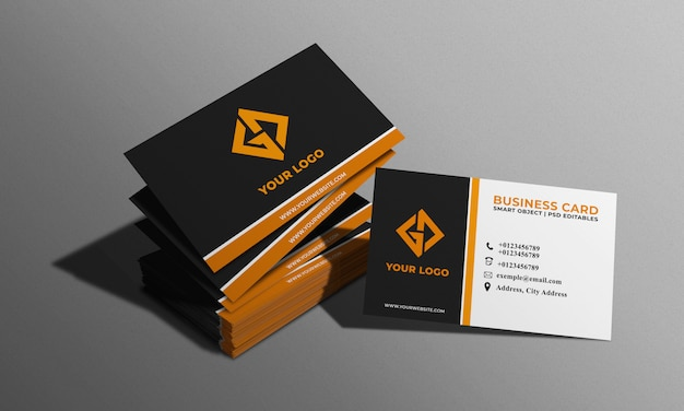 Макет визитки Premium Psd