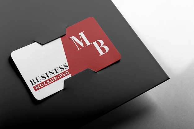 Business card mockup.