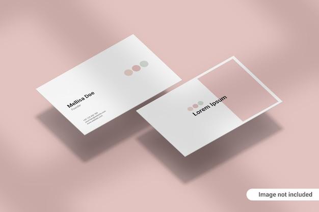 Макет визитной карточки Premium Psd