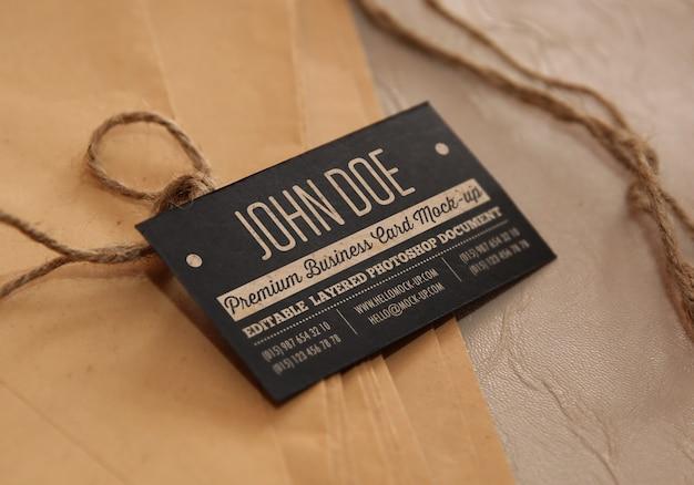 古紙や封筒の名刺