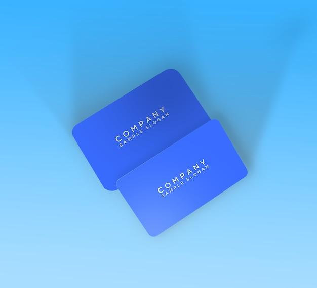 編集可能な名刺またはidカードのモックアップテンプレート