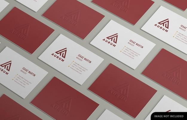 Business card pattern mockup