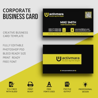 Business card premium psd