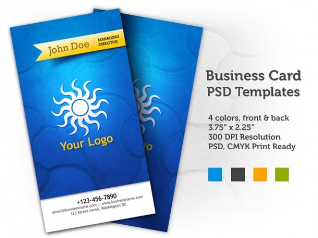 Business card psd templates  front & back